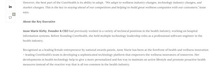 Insights Care Article about how CoreHealth adapts to wellness industry changes
