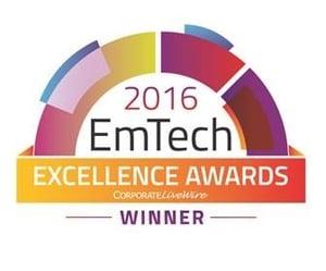 2016 Emtech Excellence Award
