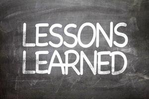 Lessons Learned written on a chalkboard-1