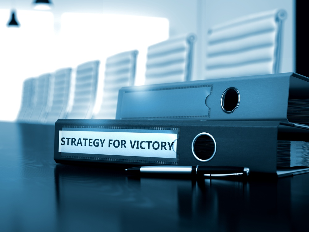 Strategy For Victory - Business Concept on Blurred Background. Strategy For Victory - Concept. Strategy For Victory. Business Illustration on Toned Background. 3D Render..jpeg