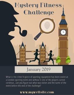 Get Fit Crime Challenge Poster