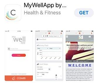 MyWellApp Apple App Store Preview