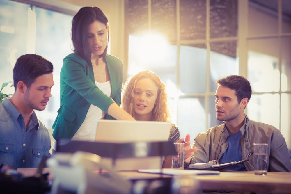 People talking employee health strategy