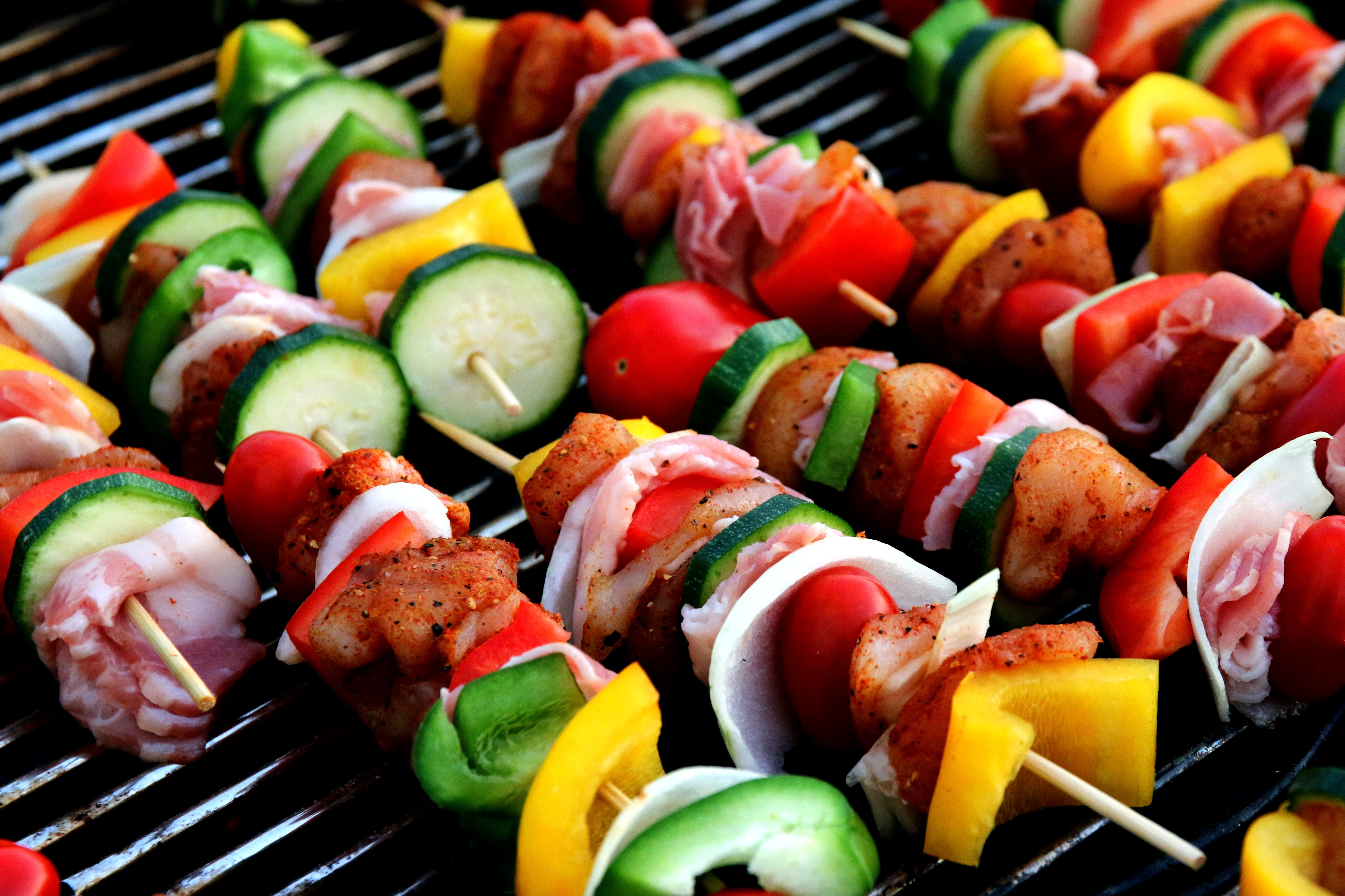 Barbecue Skewers Veggies and Meat